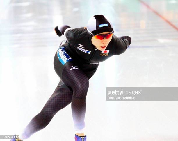 Miho Takagi of Japan competes in the Women's 1500m during day two of the World Allround Speed Skating Championships at Hamar Olympic Hall on March 5...