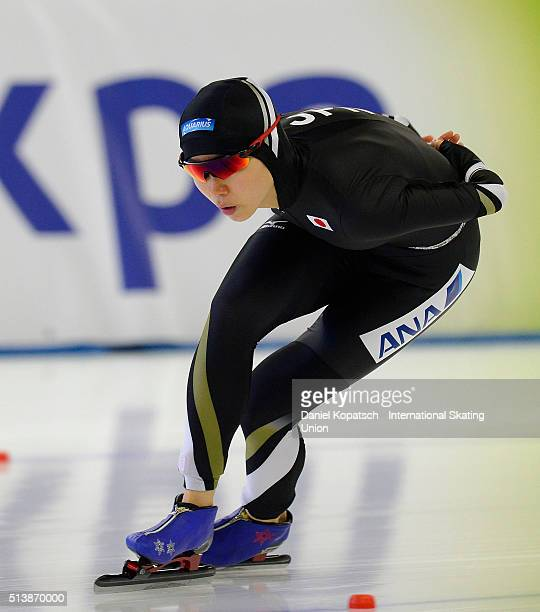 Miho Takagi of Japan competes the Ladies 3000 M during day one of ISU Allround Speed Skating World Championship on March 5 2016 in Berlin Germany