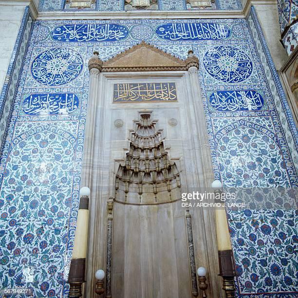 Mihrab in the Rustem Pasha Mosque 15611563 Istanbul Turkey