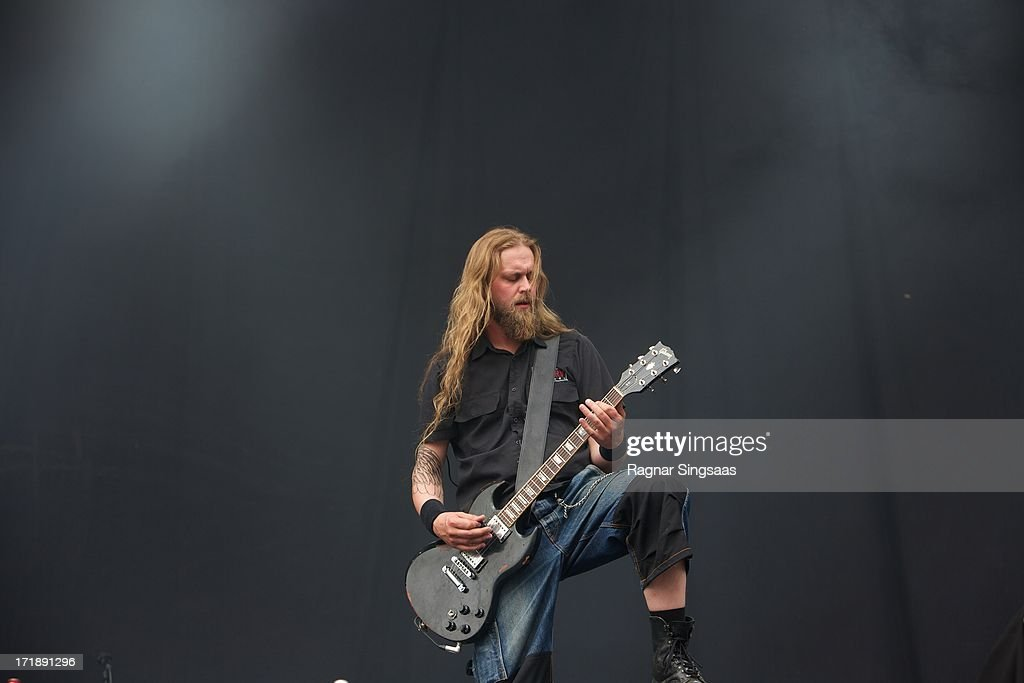 Miitri Aaltonen of Kotiteollisuus performs on stage on Day 4 of Rock The Beach Festival on June 29, 2013 in Helsinki, Finland.