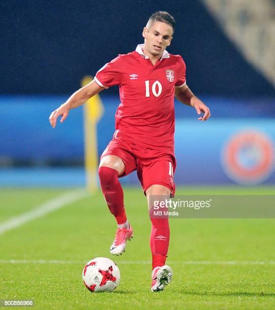 Mijat Gacinovic during the UEFA European Under21 match between Serbia and Spain at Arena Bydgoszcz on June 23 2017 in Bydgoszcz Poland