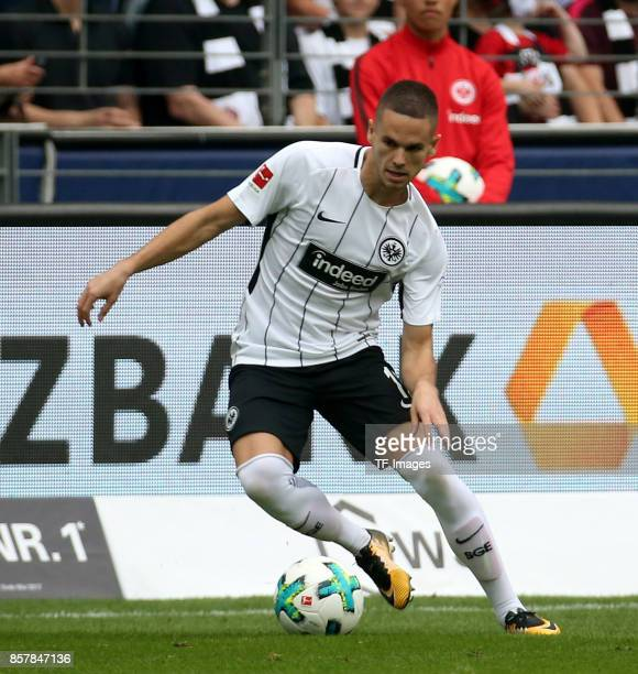 Mijat Gacinovic of Frankfurt controls the ball during the Bundesliga match between Eintracht Frankfurt and VfB Stuttgart at CommerzbankArena on...