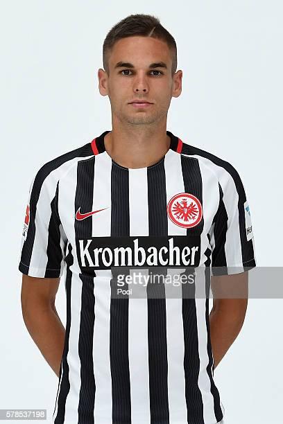 Mijat Gacinovic poses during the Eintracht Frankfurt Team Presentation on July 21 2016 in Frankfurt am Main Germany