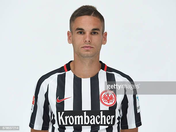 Mijat Gacinovic poses during the Eintracht Frankfurt Team Presentation on July 21 2016 in Frankfurt am Main Germany