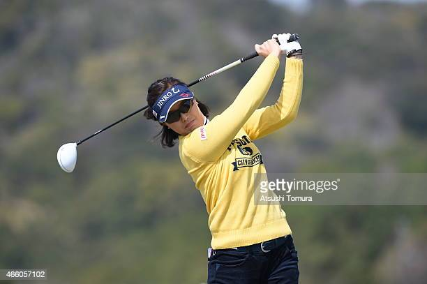 MiJeong Jeon of South Korea hits a tee shot during the first round of the Yokohama Tyre PRGR Ladies Cup at the Tosa Country Club on March 13 2015 in...