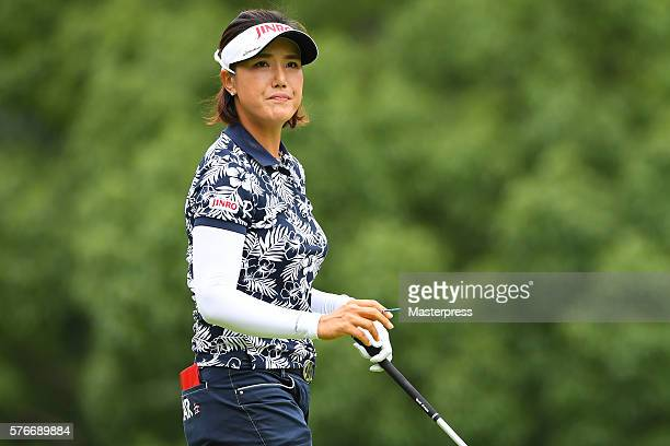 MiJeong Jeon of South Korea looks on during the Samantha Thavasa Girls Collection Ladies Tournament 2016 at the Eagle Point Golf Club on July 17 2016...