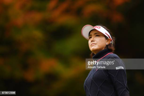 MiJeong Jeon of South Korea looks on during the third round of the Daio Paper Elleair Ladies Open 2017 at the Elleair Golf Club on November 18 2017...