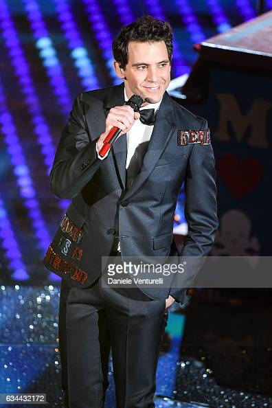 Mika attends the third night of the 67th Sanremo Festival 2017 at Teatro Ariston on February 9 2017 in Sanremo Italy