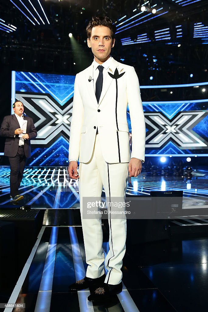 <a gi-track='captionPersonalityLinkClicked' href=/galleries/search?phrase=Mika&family=editorial&specificpeople=686723 ng-click='$event.stopPropagation()'>Mika</a> attends X Factor TV Show on November 6, 2014 in Milan, Italy.
