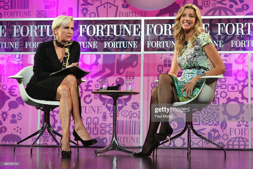 Mika Brzezinski and founder of Spanx <a gi-track='captionPersonalityLinkClicked' href=/galleries/search?phrase=Sara+Blakely&family=editorial&specificpeople=4439074 ng-click='$event.stopPropagation()'>Sara Blakely</a> speak onstage at the FORTUNE Most Powerful Women Summit on October 16, 2013 in Washington, DC.