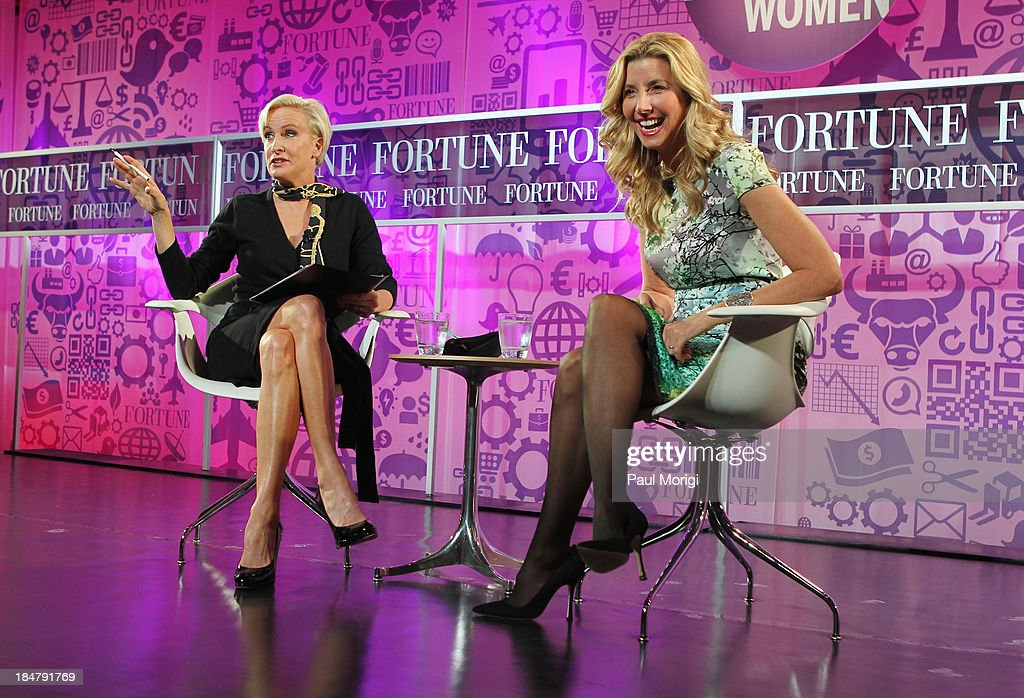 Mika Brzezinski and founder of Spanx Sara Blakely speak onstage at the FORTUNE Most Powerful Women Summit on October 16, 2013 in Washington, DC.