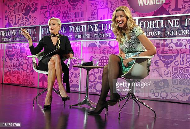 Mika Brzezinski and founder of Spanx Sara Blakely speak onstage at the FORTUNE Most Powerful Women Summit on October 16 2013 in Washington DC