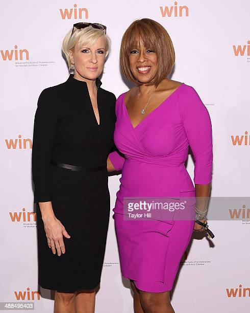 Mika Brzezinski and Gayle King attend the Way To Win Dinner 2014 at The Waldorf=Astoria on May 6 2014 in New York City