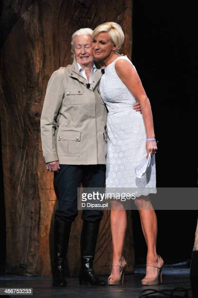 Mika Brzezinski and mother Emilie Brzezinski attend THRIVE A Third Metric Live Event at New York City Center on April 25 2014 in New York City