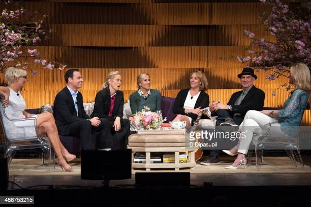 Mika Brzezinski Brendon Burchard Ali Wentworth Tory Burch Jacki Kelley Peter Himmelman and Arianna Huffington attend THRIVE A Third Metric Live Event...
