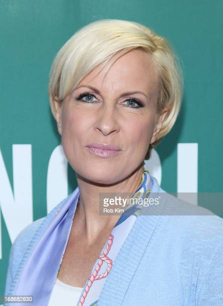 Mika Brzezinski promotes her new book 'Obsessed The Fight Against America's Food Addiction' at Barnes and Noble Union Square on May 13 2013 in New...