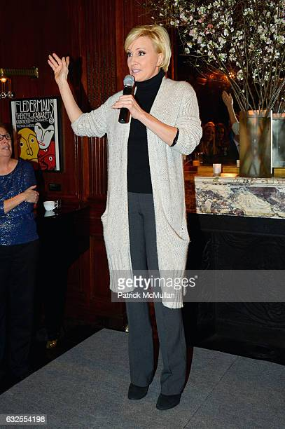 Mika Brzezinski speaks at the UN Women For Peace Association's Reception to Celebrate 2017 Award Luncheon Honorees at Neue Galerie on January 23 2017...