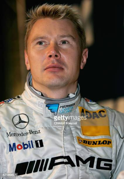 Mika Haekkinen of AMGMercedes looks on during the German Touring Car launch for the forthcoming DTM Championship Season on March 26 2006 in...