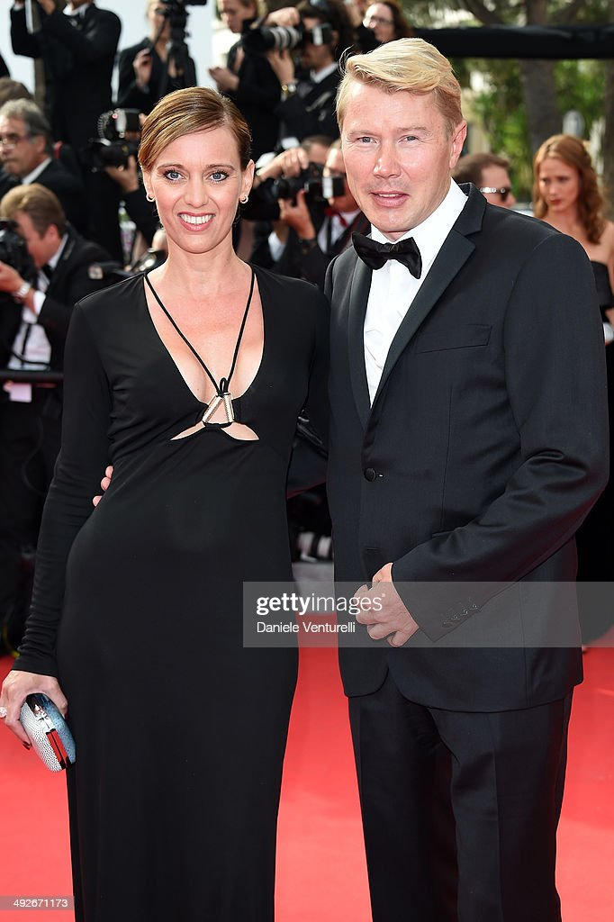 <a gi-track='captionPersonalityLinkClicked' href=/galleries/search?phrase=Mika+Hakkinen&family=editorial&specificpeople=203334 ng-click='$event.stopPropagation()'>Mika Hakkinen</a> and Marketa Remesova attend 'The Search' Premiere at the 67th Annual Cannes Film Festival on May 21, 2014 in Cannes, France.