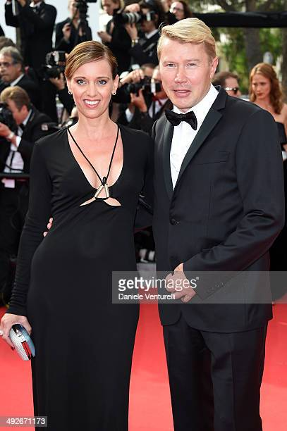 Mika Hakkinen and Marketa Remesova attend 'The Search' Premiere at the 67th Annual Cannes Film Festival on May 21 2014 in Cannes France