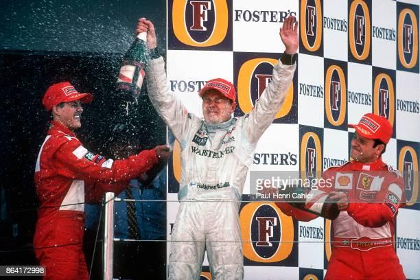 Mika Hakkinen Michael Schumacher Rubens Barrichello Grand Prix of Great Britain Silverstone Circuit 15 July 2001