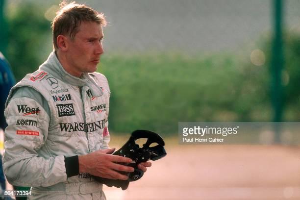 Mika Häkkinen Grand Prix of Japan Suzuka Circuit 14 October 2001 Mika Häkkinen after the finish of the Grand Prix of Japan in Suzuka with his...
