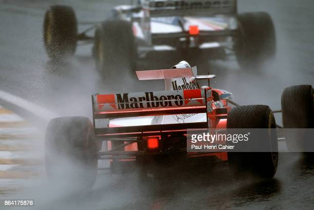 Mika Häkkinen McLarenMercedes MP4/10 Grand Prix of Brazil Autodromo Jose Carlos Pace Interlagos 26 March 1995 Mika Häkkinen in the McLarenMercedes...