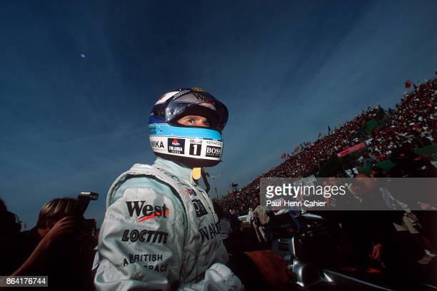 Mika Häkkinen McLarenMercedes MP4/14 Grand Prix of Japan Suzuka Circuit 31 October 1999 Mika Häkkinen on the starting grid of the 1999 Grand Prix of...