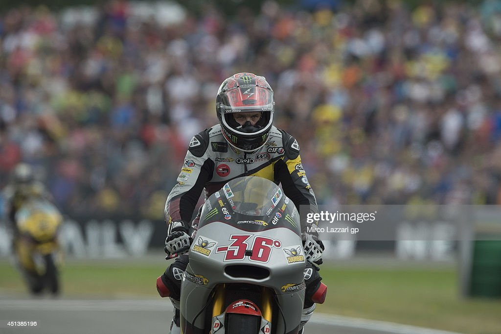 <a gi-track='captionPersonalityLinkClicked' href=/galleries/search?phrase=Mika+Kallio&family=editorial&specificpeople=543919 ng-click='$event.stopPropagation()'>Mika Kallio</a> of Finland and Marc VDS Racing Team celebrates the third place at the end of the Moto2 race during the MotoGP of Netherlands - Race at on June 28, 2014 in Assen, Netherlands.