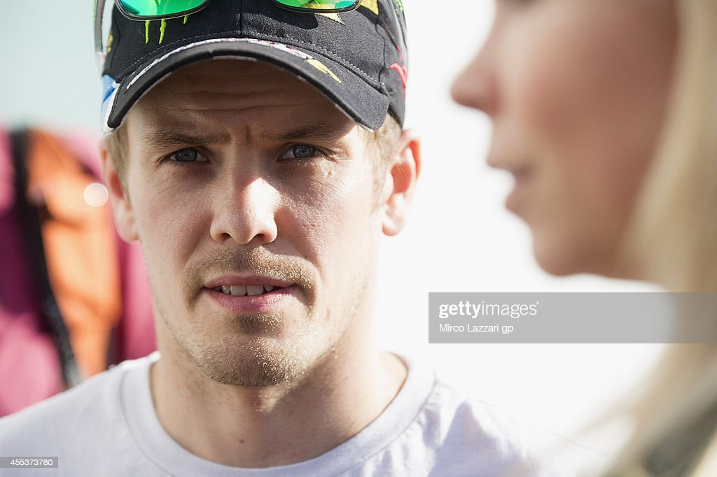 <a gi-track='captionPersonalityLinkClicked' href=/galleries/search?phrase=Mika+Kallio&family=editorial&specificpeople=543919 ng-click='$event.stopPropagation()'>Mika Kallio</a> of Finland and Marc VDS Racing Team looks on during the MotoGP of San Marino - Qualifying at Misano World Circuit on September 13, 2014 in Misano Adriatico, Italy.