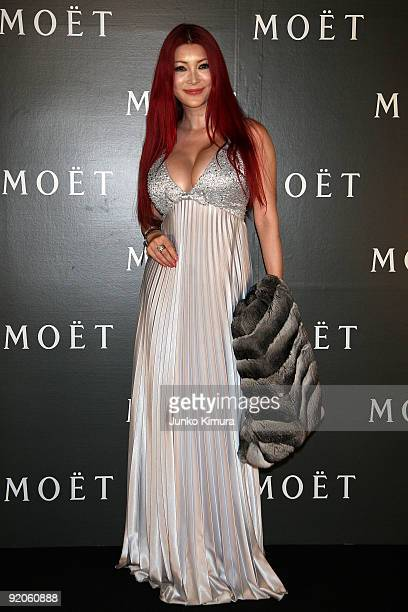 Mika Kanou attends 'Tribute to Cinema' hosted by Moet Chandon at Roppongi Hills on October 20 2009 in Tokyo Japan