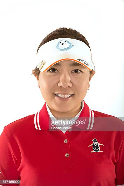 Mika Miyazato of Japan poses for a portrait during the KIA Classic at the Park Hyatt Aviara Resort on March 22 2016 in Carlsbad California
