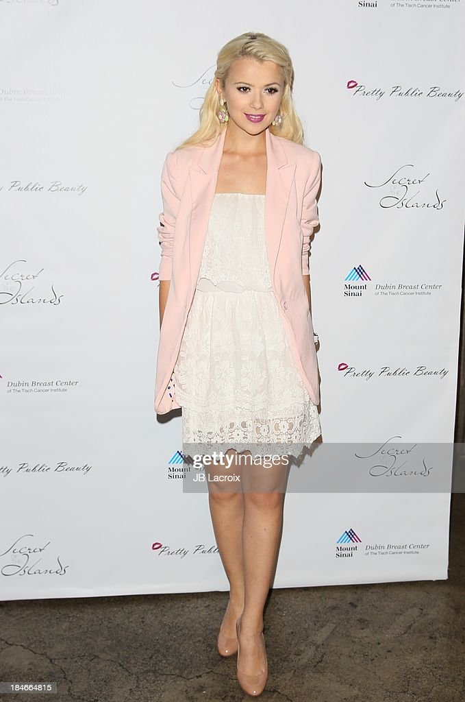 Mika Newton attends the Pretty Pink Beauty Night hosted by Sasha Pieterse of 'Pretty Little Liars' held at Tiato on October 14, 2013 in Santa Monica, California.