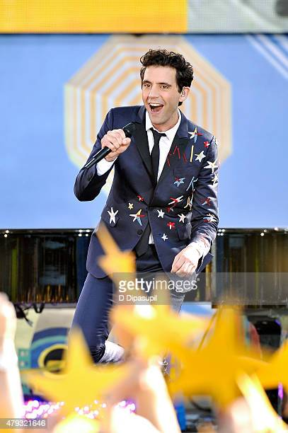 Mika performs on ABC's 'Good Morning America' at Rumsey Playfield Central Park on July 3 2015 in New York City