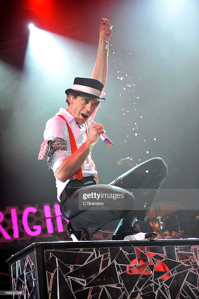 Mika performs on stage at The Roundhouse on December 13, 2012 in London, England.