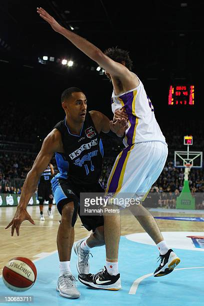 Mika Vukona of the Breakers attacks the line during the round three NBL match between the New Zealand Breakers and the Sydney Kings at Vector Arena...