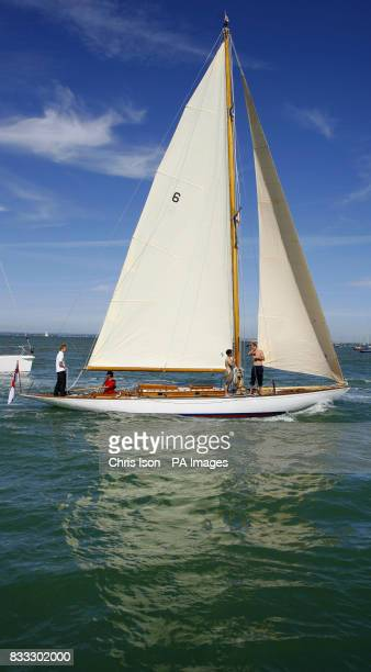 Mikado arrives during the Skandia Cowes Week Regatta Isle of Wight