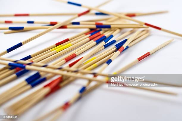 Mikado sticks on white background