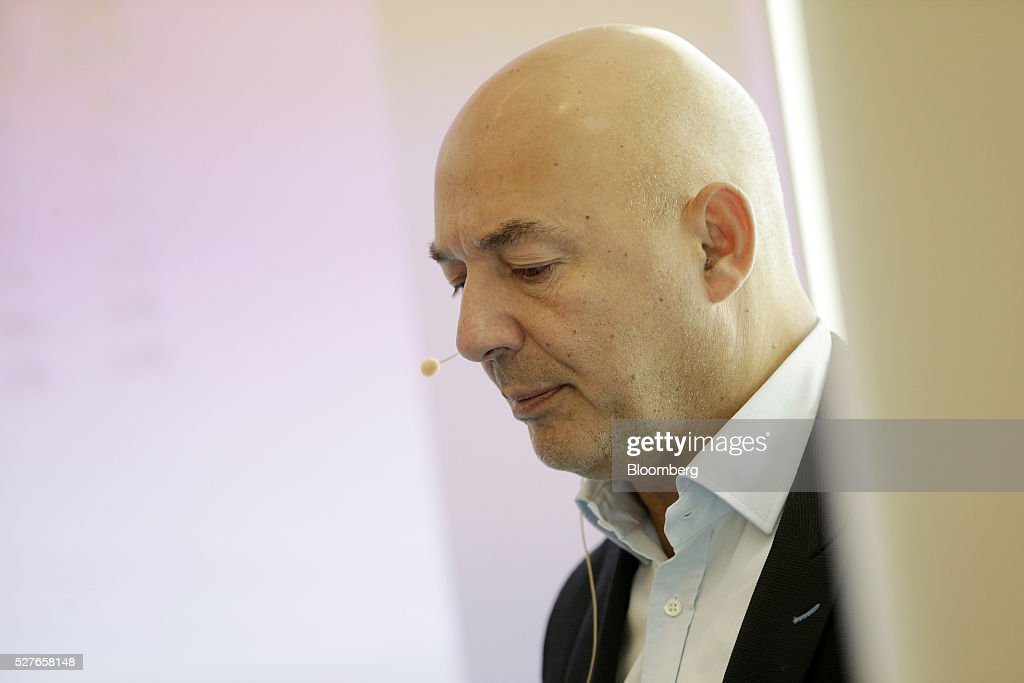 Mikael Ahstrom, founder of Procuritas AB, looks on during the Europe-Iran Forum in Zurich, Switzerland, on Tuesday, May 3, 2016. The U.S., Russia and European countries in January lifted a series of economic sanctions in exchange for Iran's agreement to curb its nuclear activities. Photographer: Matthew Lloyd/Bloomberg via Getty Images