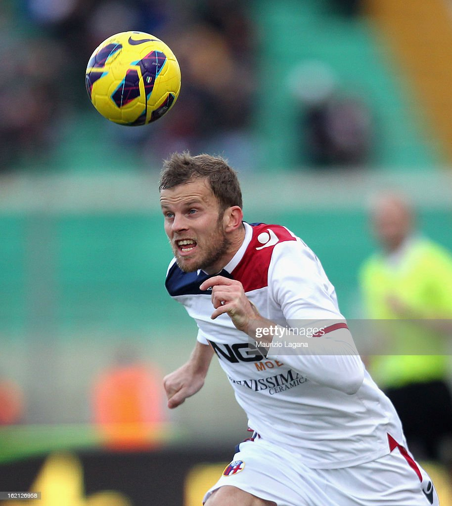 Mikael Antonsson of Bologna during the Serie A match between Calcio Catania and Bologna FC at Stadio Angelo Massimino on February 17, 2013 in Catania, Italy.
