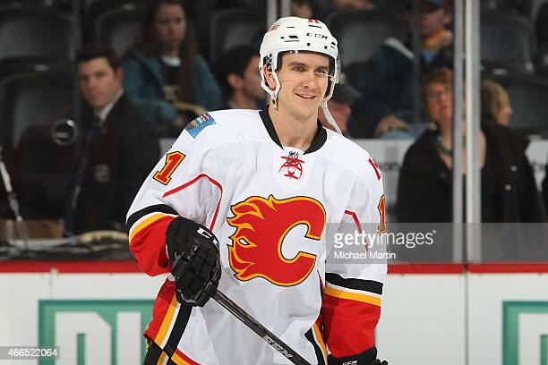 Mikael Backlund of the Calgary Flames skates prior to the game against the Colorado Avalanche at the Pepsi Center on March 14 2015 in Denver Colorado