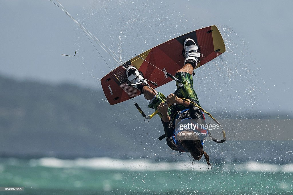 Mikael Dabrowski of Sweden competes on freestyle during day five of the KTA at Boracay Island on March 30, 2013 in Makati, Philippines.