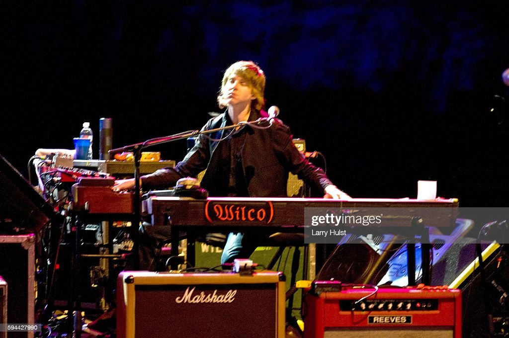 Mikael Jorgensen is performing with 'Wilco' at the Red Rocks Amphitheatre in Morrison Colorado on July 2 2008