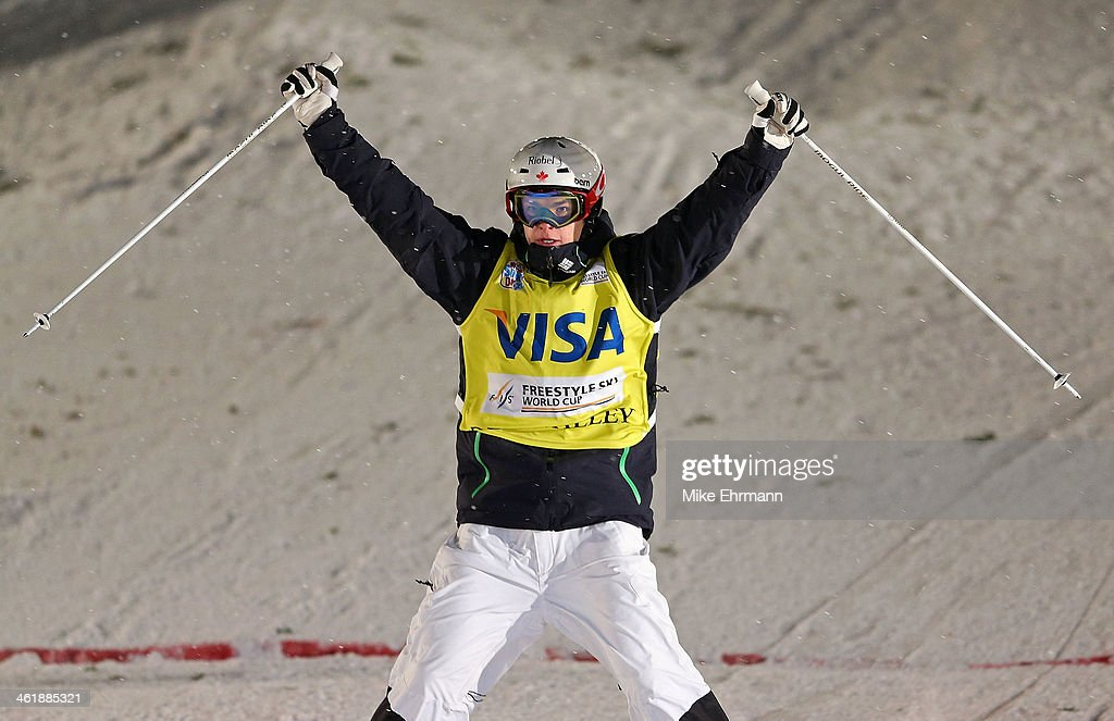Mikael Kingsbury of Canada competes during finals for the Mens 2014 FIS Freestyle Ski World Cup Mogul Competition at Deer Valley on January 11, 2014 in Park City, Utah.