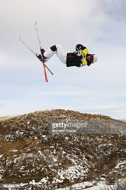 Mikael Kingsbury of Canada competes during the Subaru Australian Mogul Championships on August 30 2016 in Perisher Australia