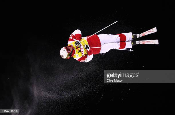 Mikael Kingsbury of Canada competes in the FIS Freestyle Ski World Cup 2016/17 Men's Moguls Final at Bokwang Snow Park on February 11 2017 in...