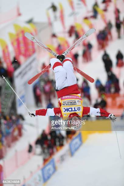Mikael Kingsbury of Canada competes in the men's dual moguls during 2017 FIS Freestyle Ski World Cup Tazawako In Akita supported by TDK at Tazawako...