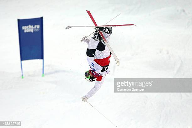 Mikael Kingsbury of Canada competes in the Men's Moguls Qualification on day three of the Sochi 2014 Winter Olympics at Rosa Khutor Extreme Park on...
