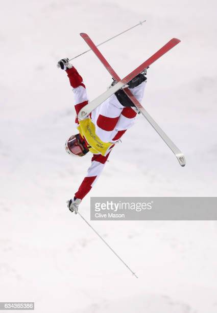 Mikael Kingsbury of Canada in action during Mens Moguls training prior to the FIS Freestyle World Cup at Bokwang Snow Park on February 9 2017 in...