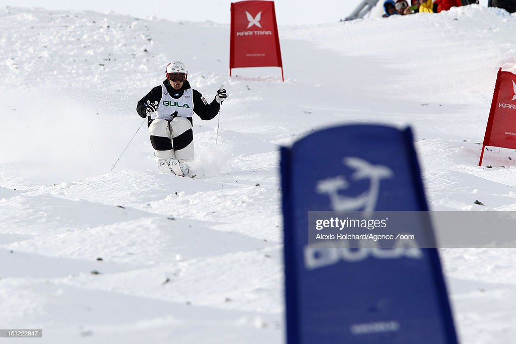 Mikael Kingsbury of Canada takes 1st place during the FIS Freestyle Ski World Championship Men's and Women's Moguls on March 06, 2013 in Voss, Norway.